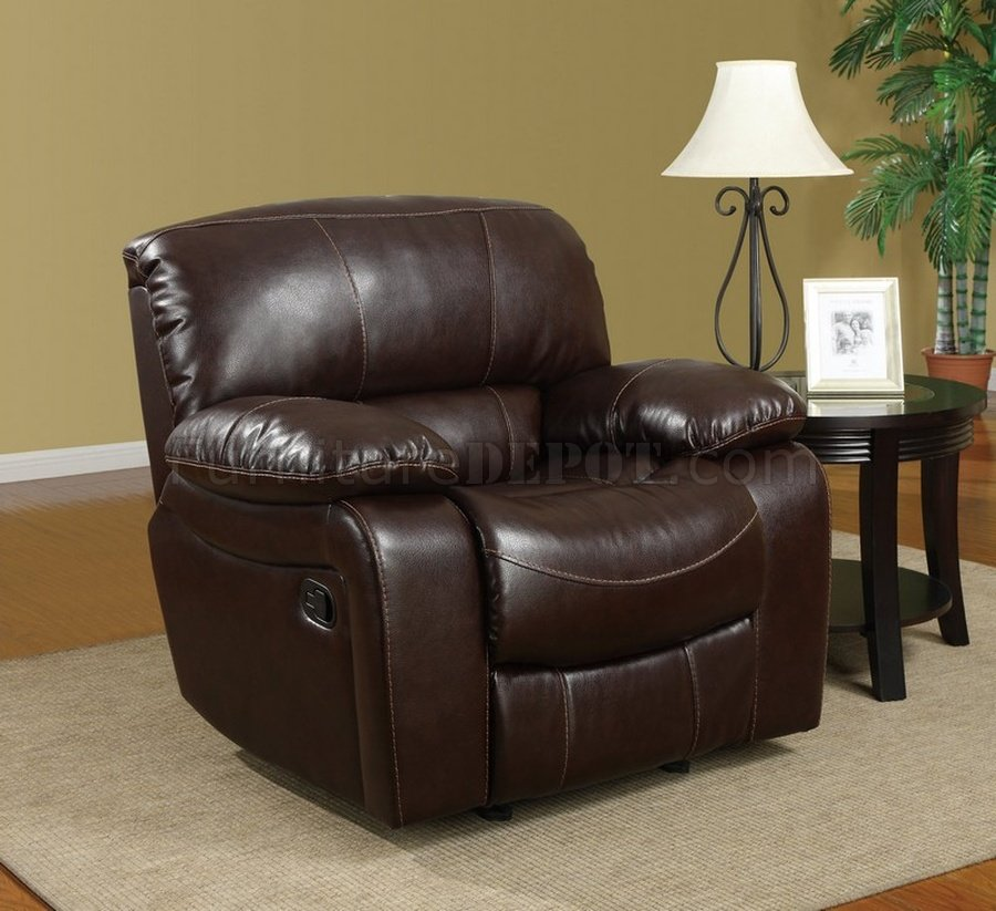 U8122 reclining sofa in burgundy bonded leather Burgundy leather loveseat