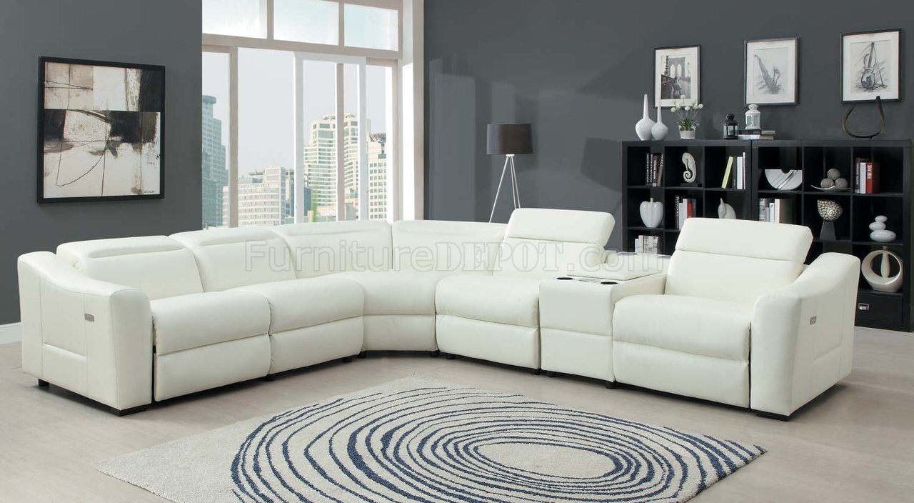 9623 Instrumental Sectional Sofa Bonded Leather By Homelegance