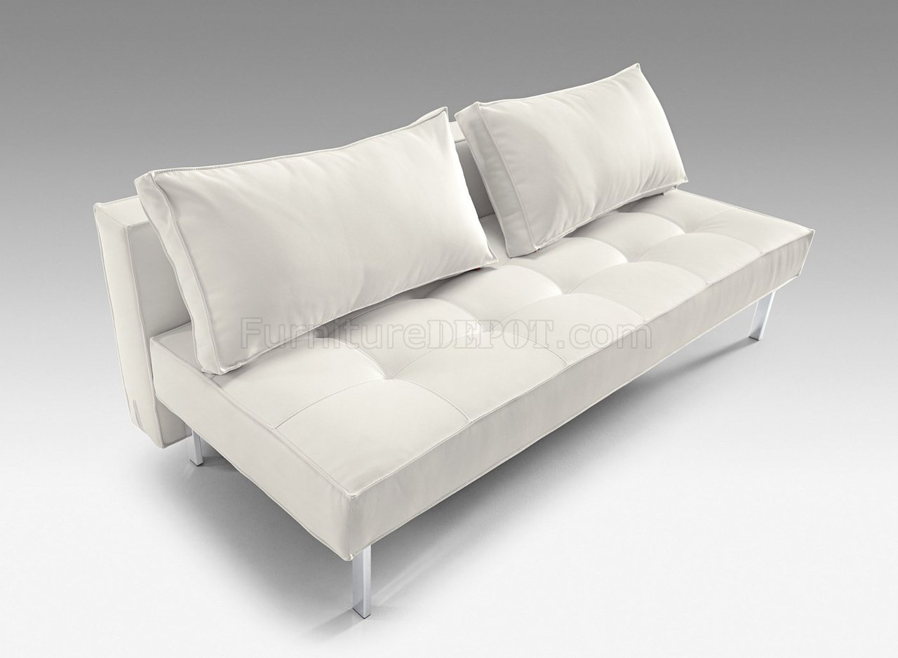 Remarkable White Or Black Full Leatherette Modern Convertible Sofa Bed Pdpeps Interior Chair Design Pdpepsorg