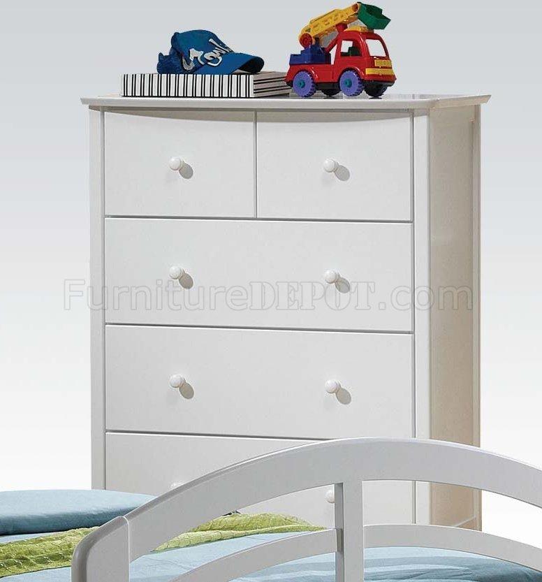San Marino Kids Bedroom 4pc Set 19150 In White By Acme W