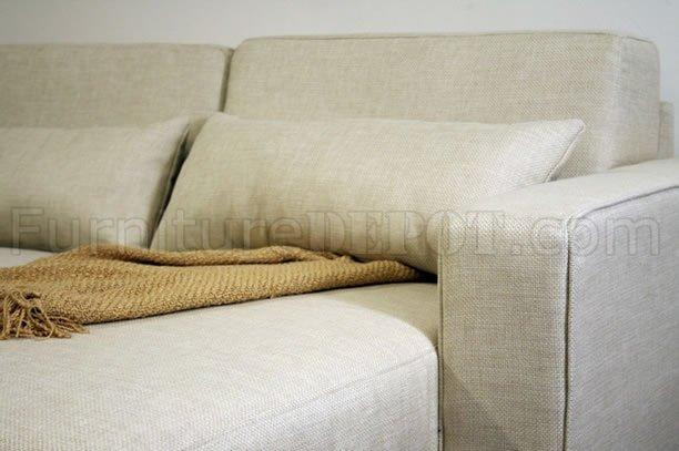 Fabric Modern Sleeper Sectional Sofa w Storage Chaise