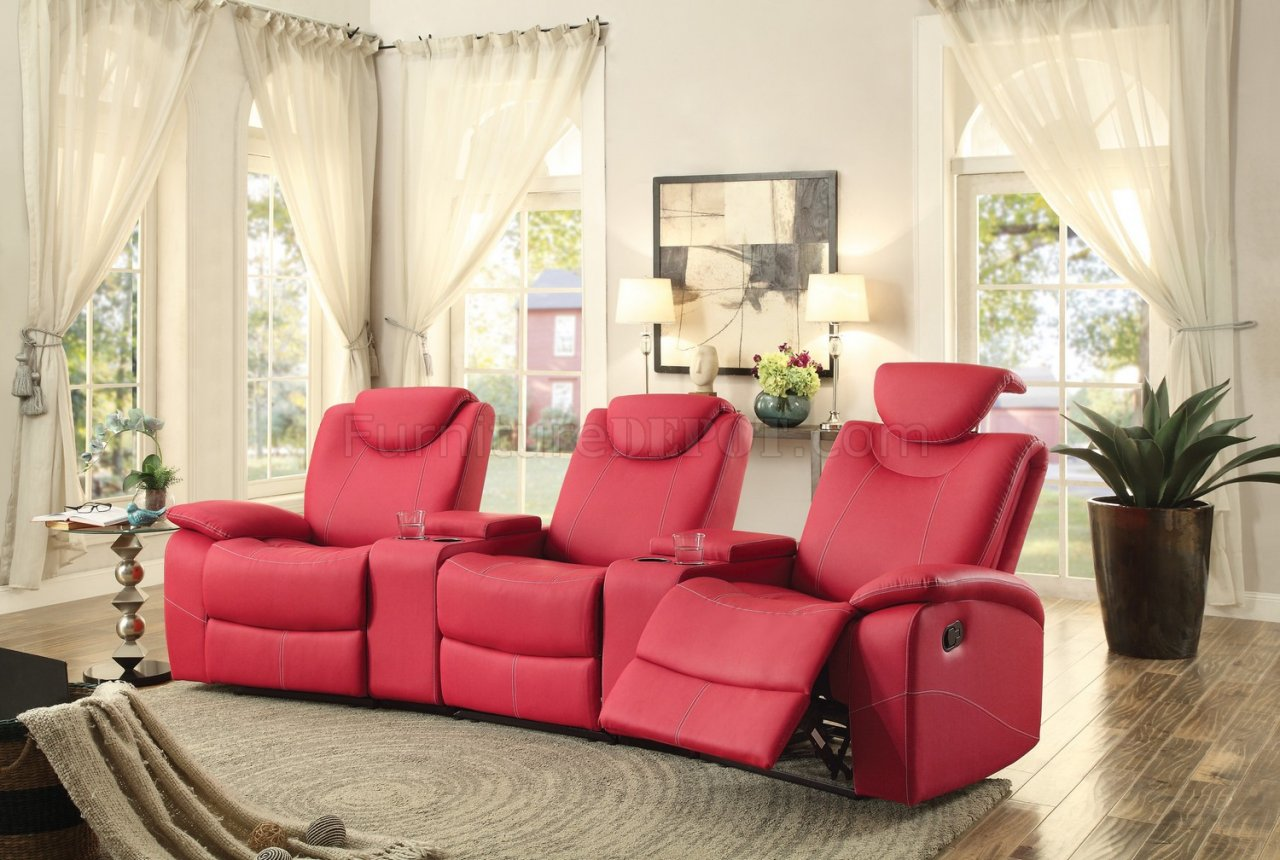 Talbot Motion Home Theater 8524rd In Red By Homelegance