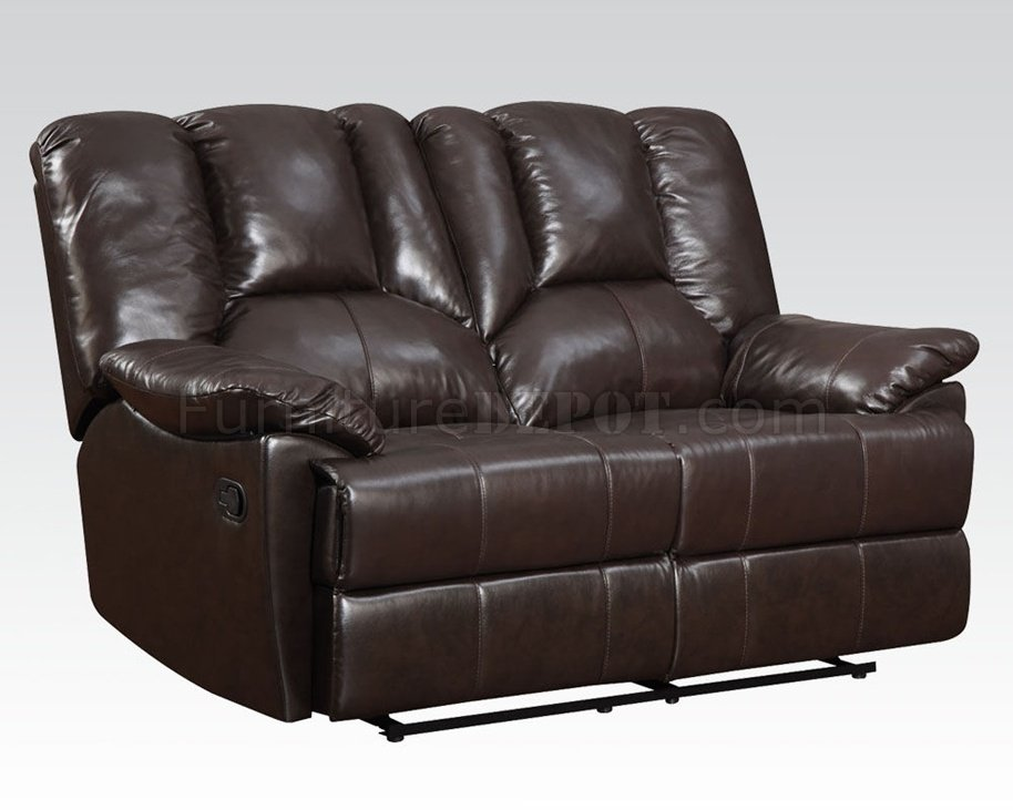 51280 obert reclining sofa top grain leather by acme w options