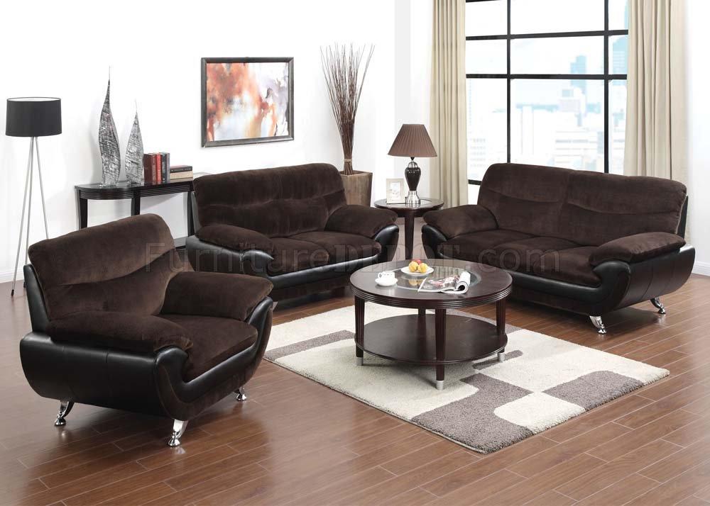 51275 Wilona Sofa Chocolate Amp Black By Acme W Options