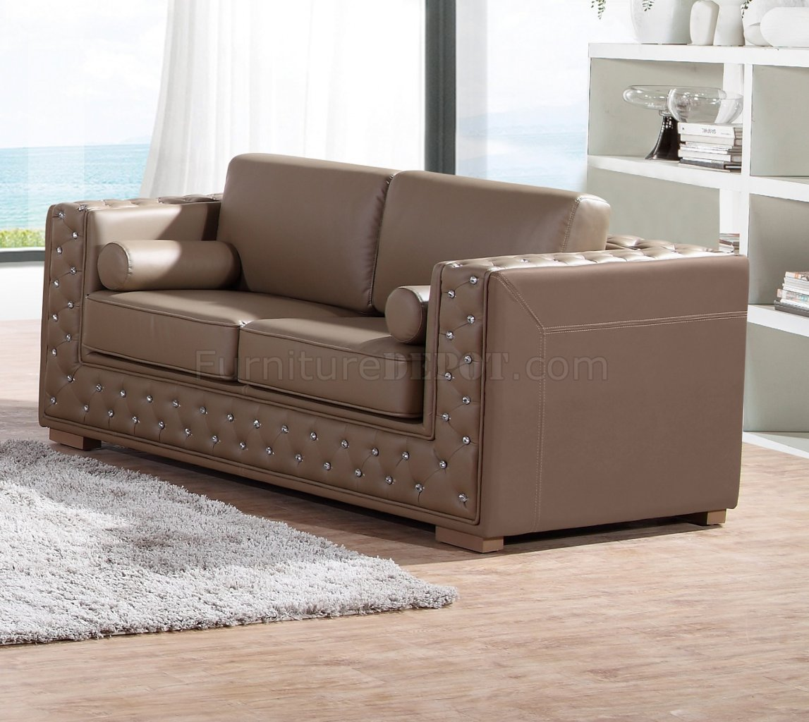 dyson sofa in light brown leather gel w options. Black Bedroom Furniture Sets. Home Design Ideas