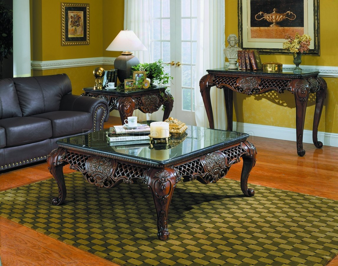 Gladstone Coffee Table By Homelegance WOptions - Affordable marble coffee table