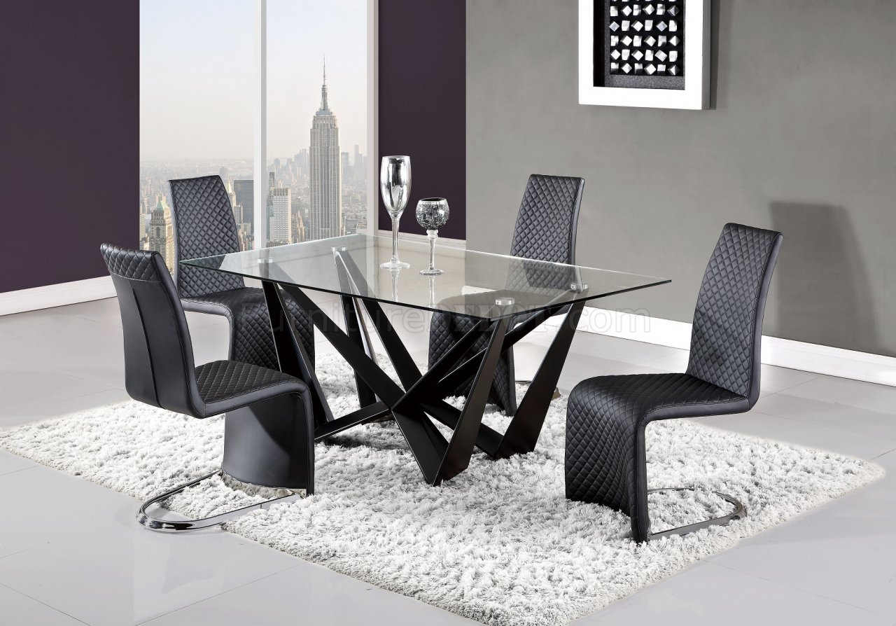 D2003DT Dining Table In Black By Global W/Optional D6671