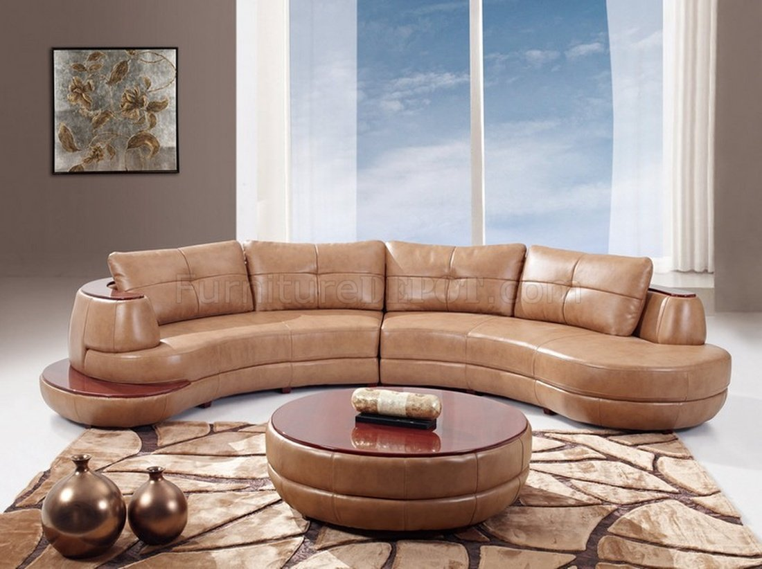U918 Honey Sectional Sofa Bonded Leather By Global