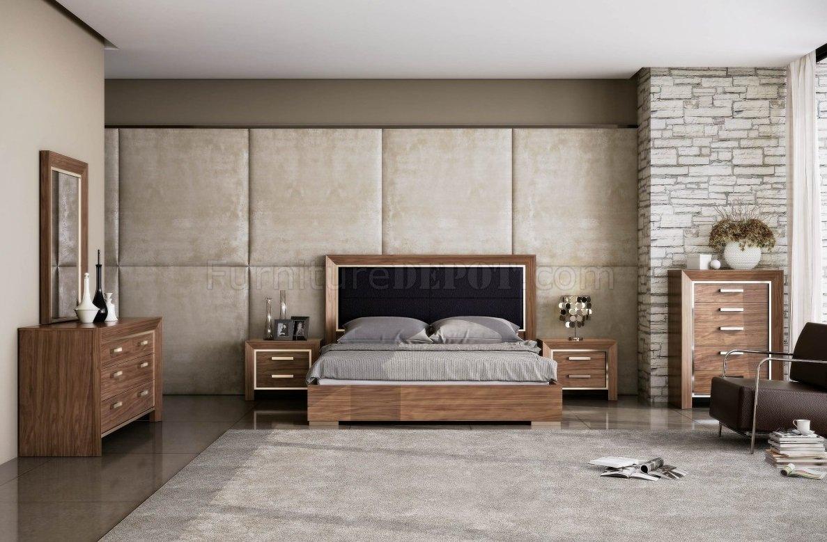 ibiza bedroom set in in natural walnut by whiteline w options wlbs