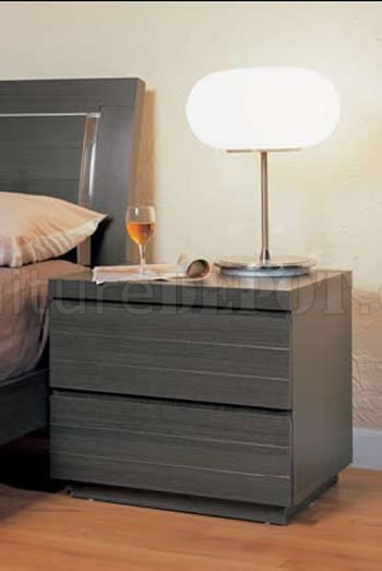 ash finish contemporary bedroom set with storage bed. Black Bedroom Furniture Sets. Home Design Ideas
