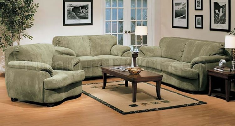 - Olive Microfiber Oversized Living Room Set