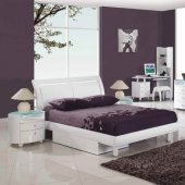 Emily Kids Bedroom in White High Gloss by Global w/Options