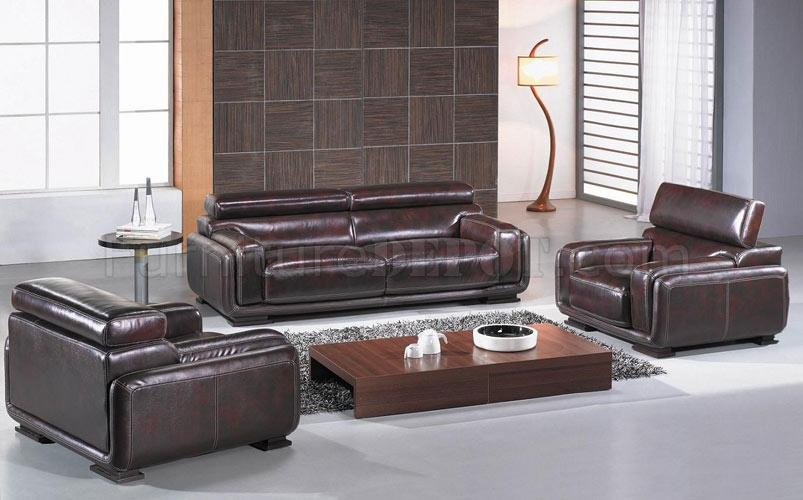 Burgundy Brown Leather 3 Piece Living Room Set Bo3919 Baltimore