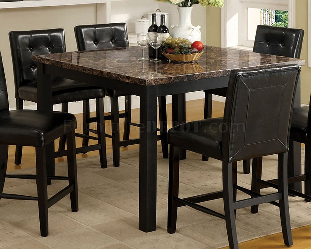 Cm3870pt boulder ii 7pc counter height dining set for Counter height dining set