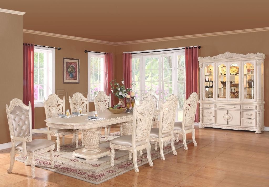 Bethany Dining Table In Antique Style White WOptions Awesome Antique White Dining Room