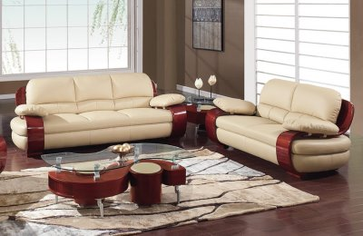 965 Sofa Amp Loveseat Set In Leather By Global Furniture Usa