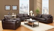 Decca Brown Bonded Leather Modern Sofa by Acme Furniture