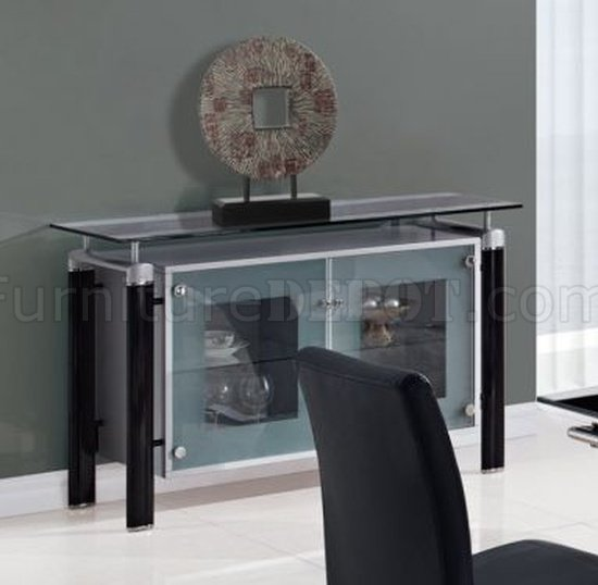Black Modern 88 Dt Dining Table W Black Glass Top Amp Options