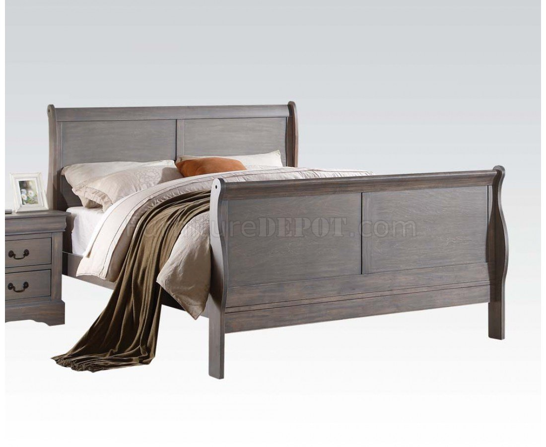 Louis Philippe 25500 Bedroom In Gray By Acme W Options