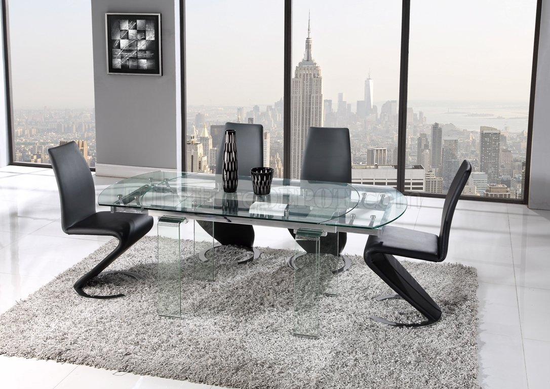 D2160DT Dining Table By Global W/Optional D9002 Black Chairs