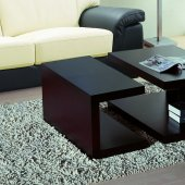Set of Two Wenge Finish Modern Coffee Table