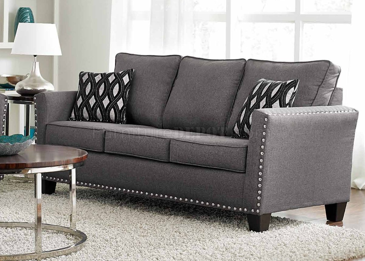3050 Sofa In Grey Chenille Fabric W Options