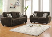 Rubin 9734CH Sofa by Homelegance in Chocolate w/Options