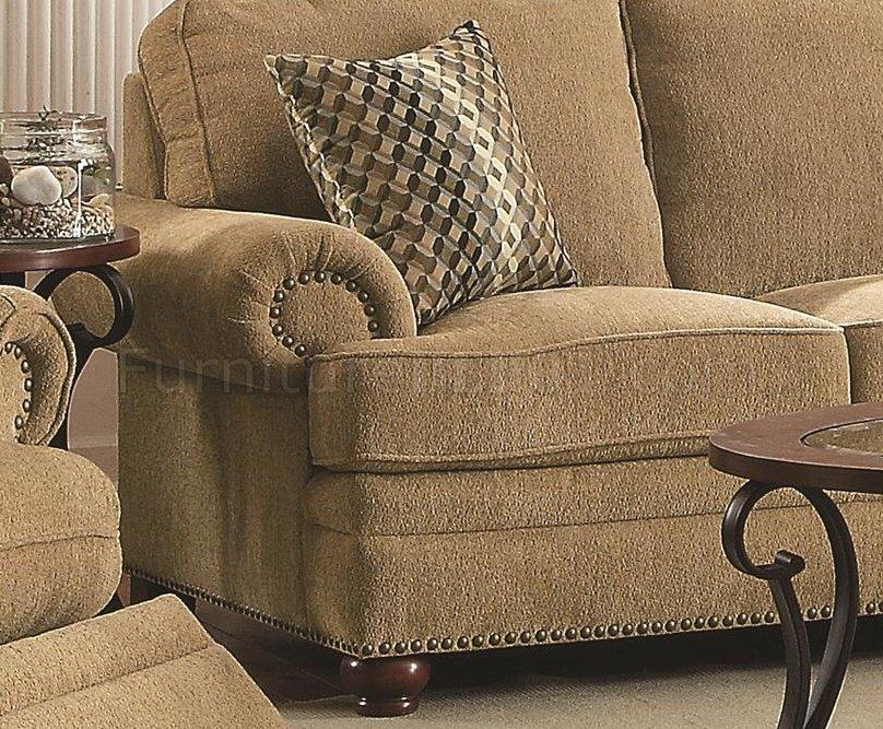 Colton 505851 Sofa In Wheat Chenille Fabric By Coaster W