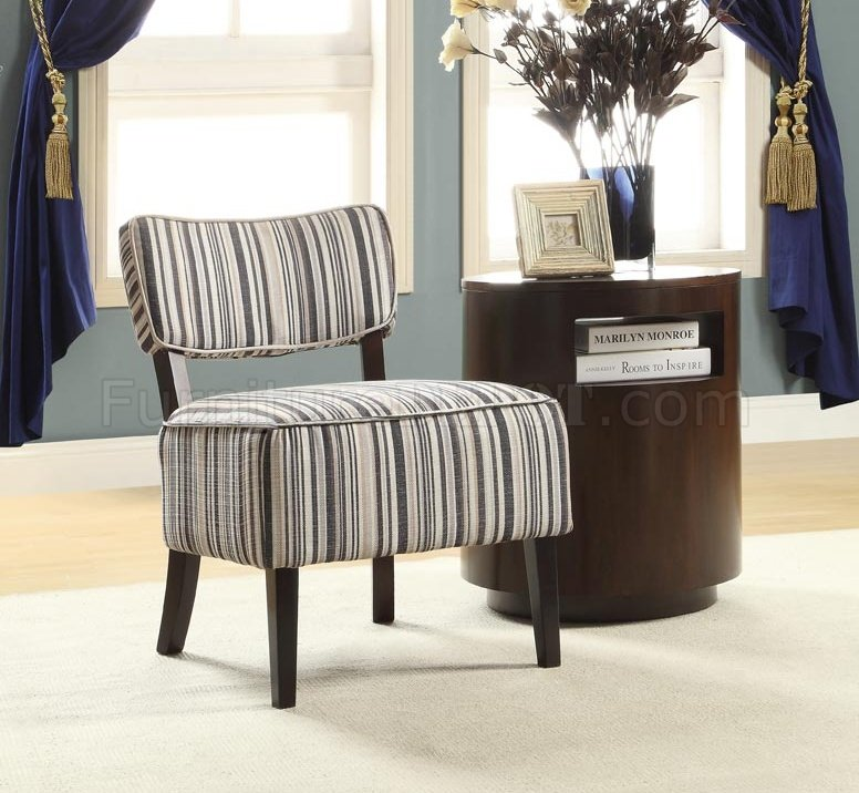 Orson Accent Chair 1191F1S Set Of 2 Striped Fabric Homelegance