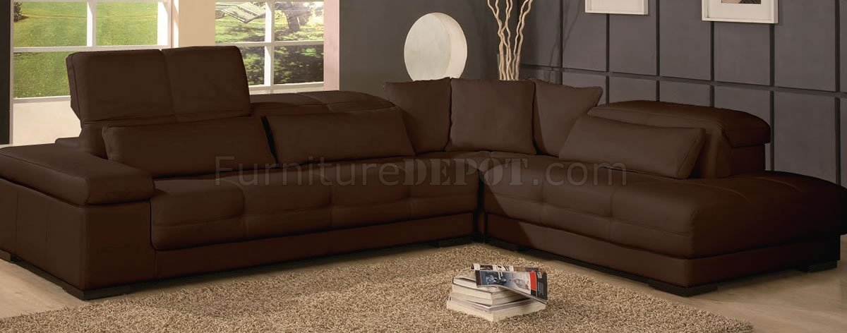 colors for the bedroom brown or ivory leather modern sectional sofa 14914
