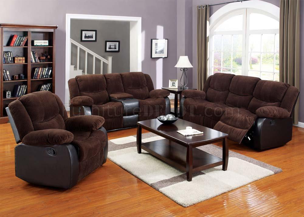 50465 Bernal Motion Sofa Chocolate Fabric By Acme W Options