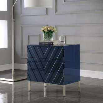 Collette Side Table 826 In Navy Blue Lacquer By Meridian