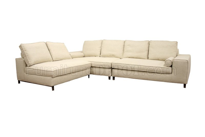 Twill fabric modern 3 piece modular sectional sofa pegeen Cream fabric sofa