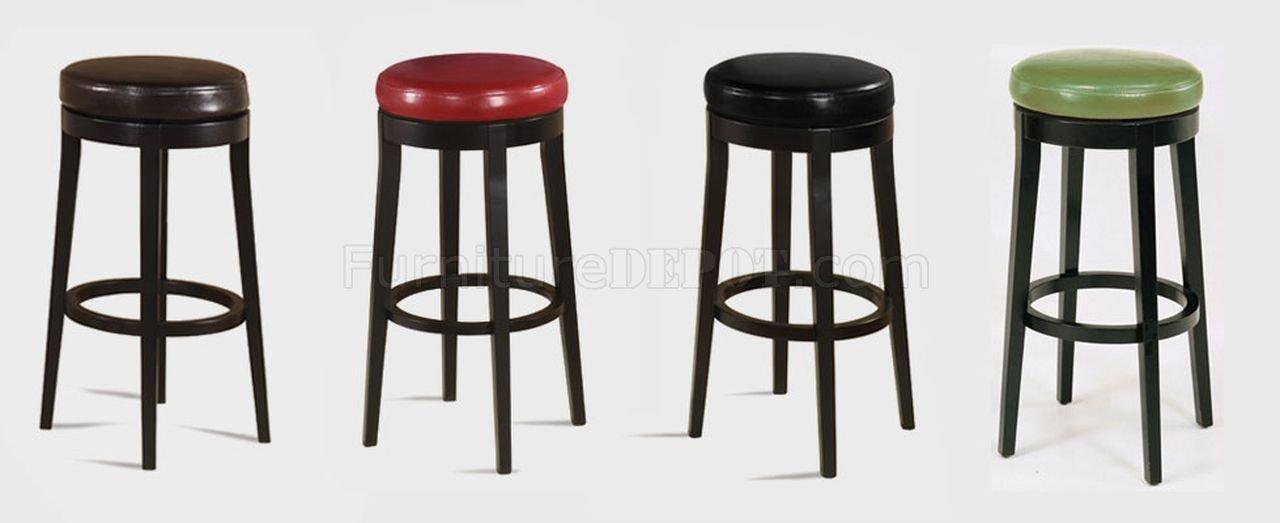backless swivel bar stools Choice of Color Bycast Leather Set of 2 Swivel Barstools backless swivel bar stools