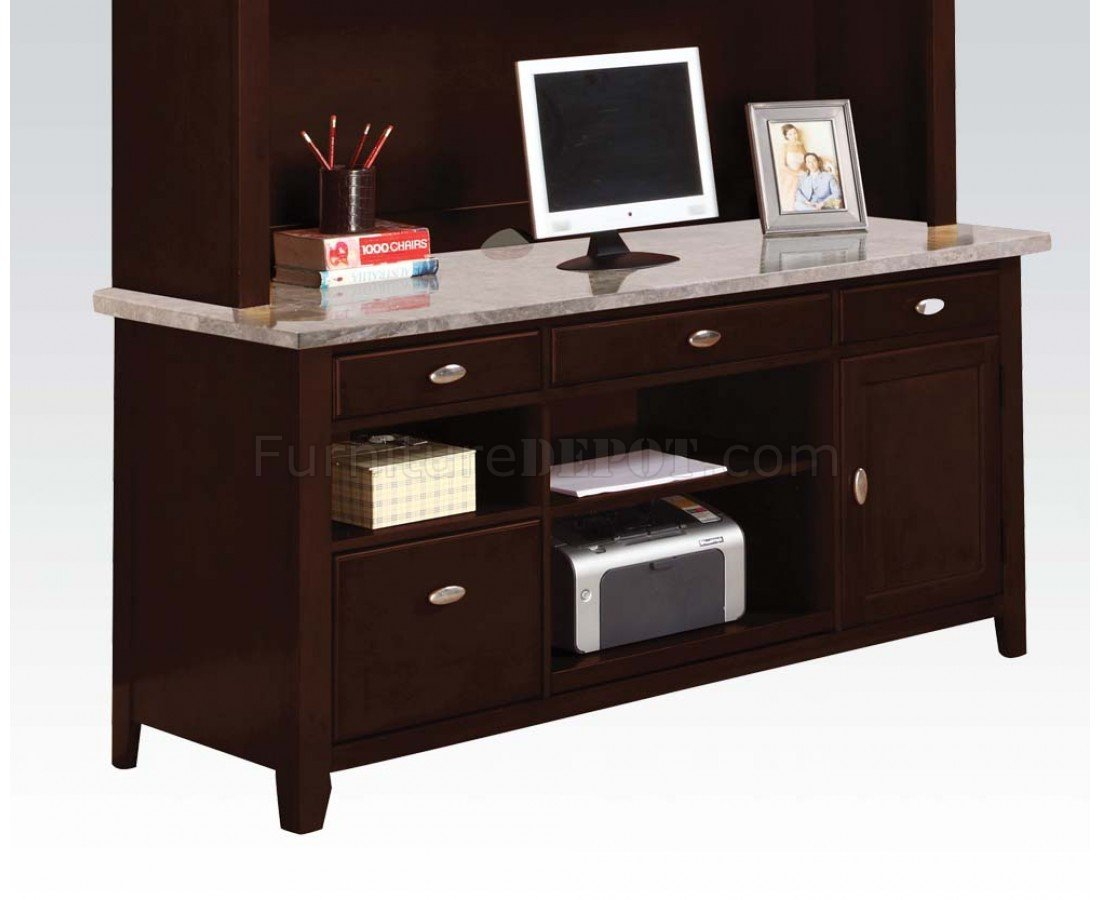 Espresso finish white top britney classic desk w options