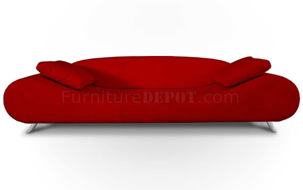 Red Fabric Modern Sofa Lounge