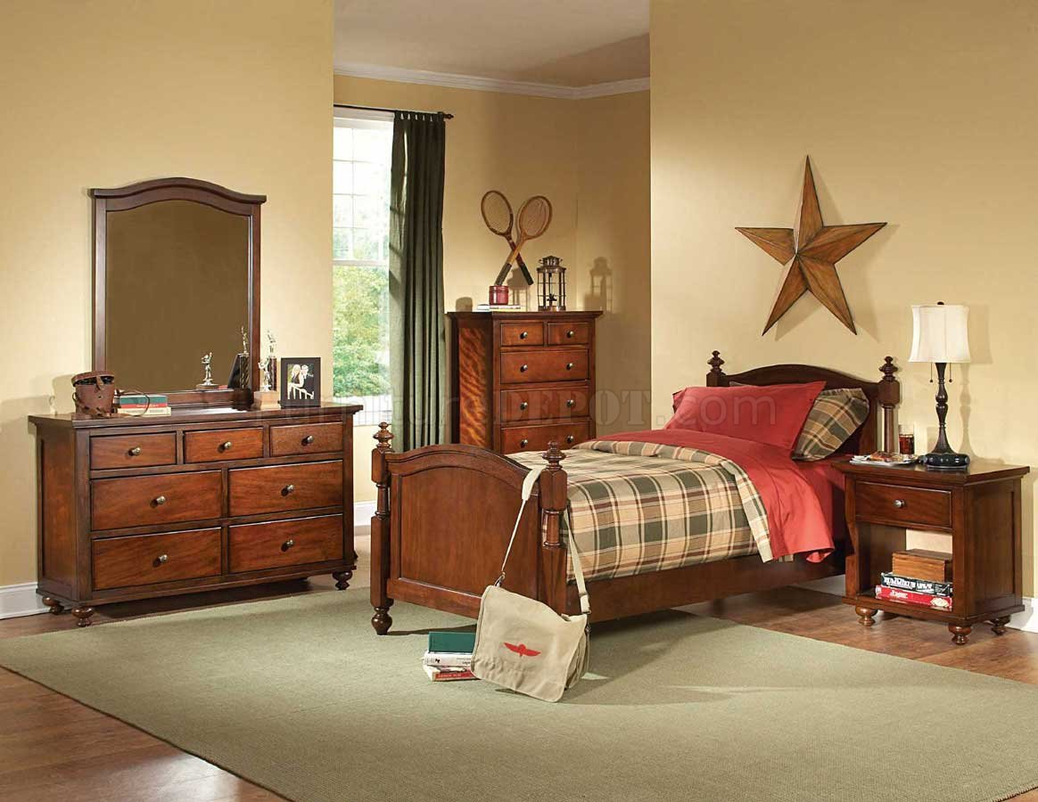 aris b1422 kids bedroom in brown cherryhomelegance w/options