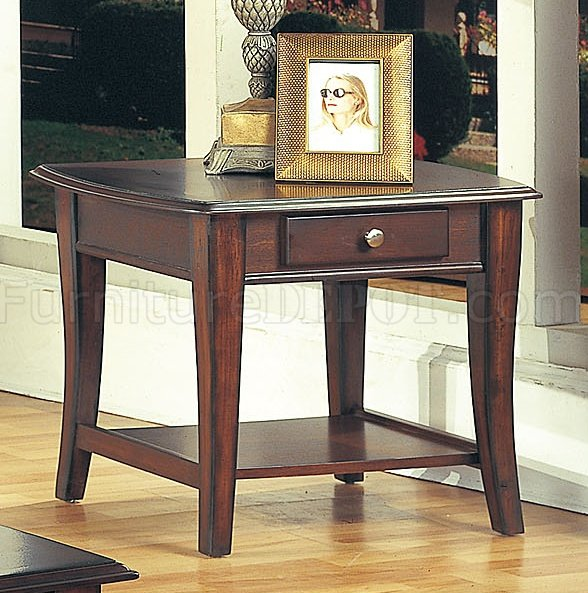 Classic Dark Brown Coffee Table Amp End Tables 3pc Set W Drawer