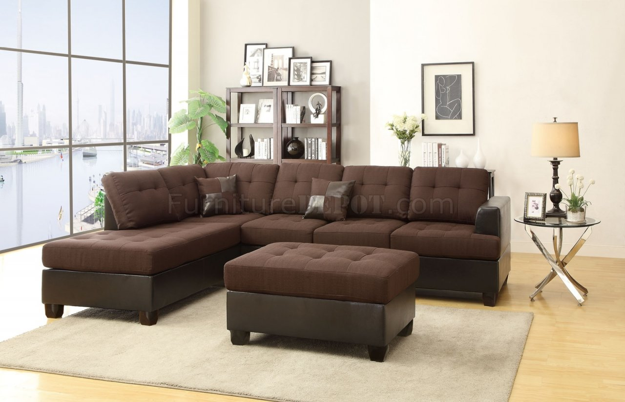 number left microfiber products with leather coaster darie side b chaise sofa sectional couch item couches