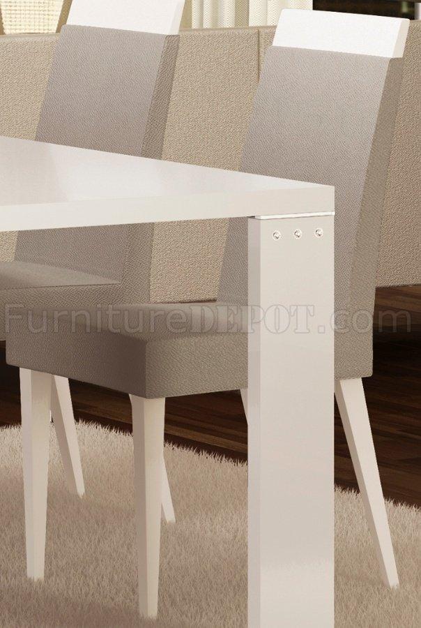 Diamond White Usa >> Elegance Diamond White Dining Table By At Home Usa W Options