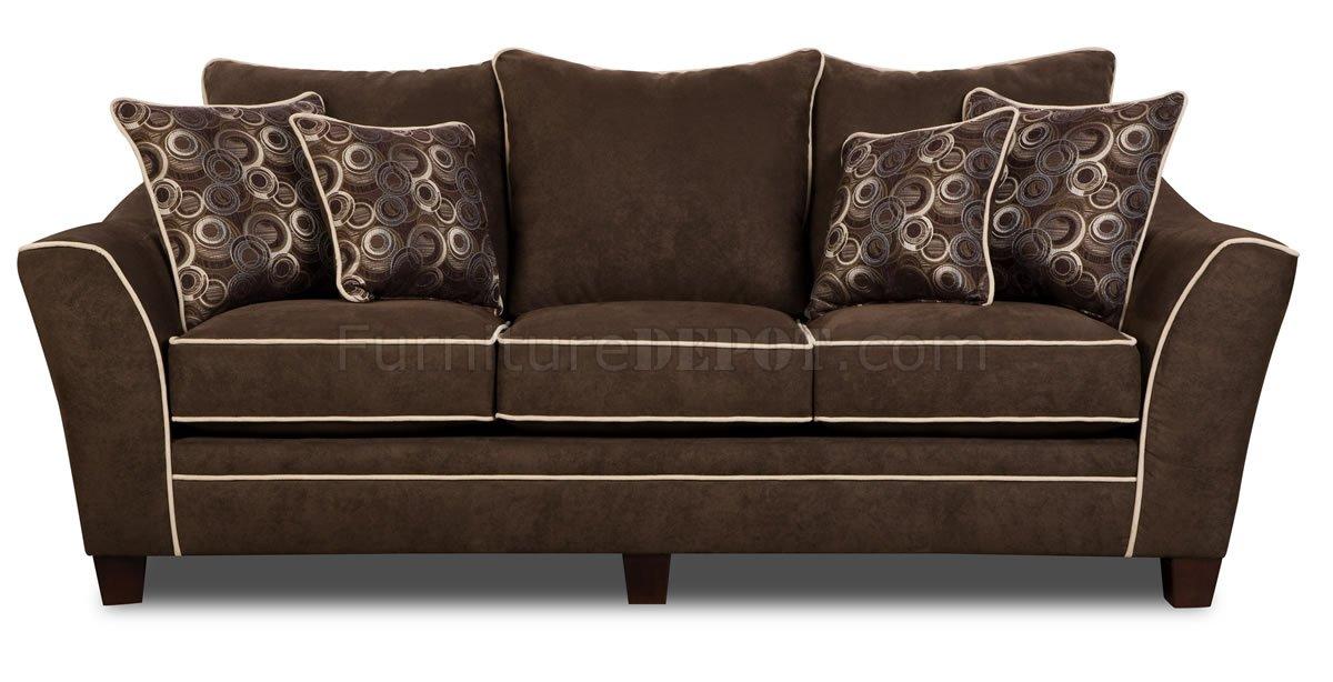 Java Fabric Modern Sofa Loveseat Set W White Lines Options