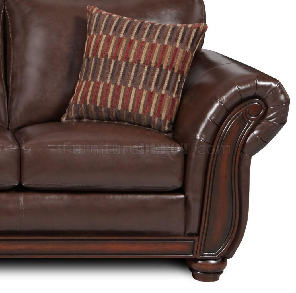Vintage Soft Bonded Leather Sofa Loveseat Set W Flair Arms