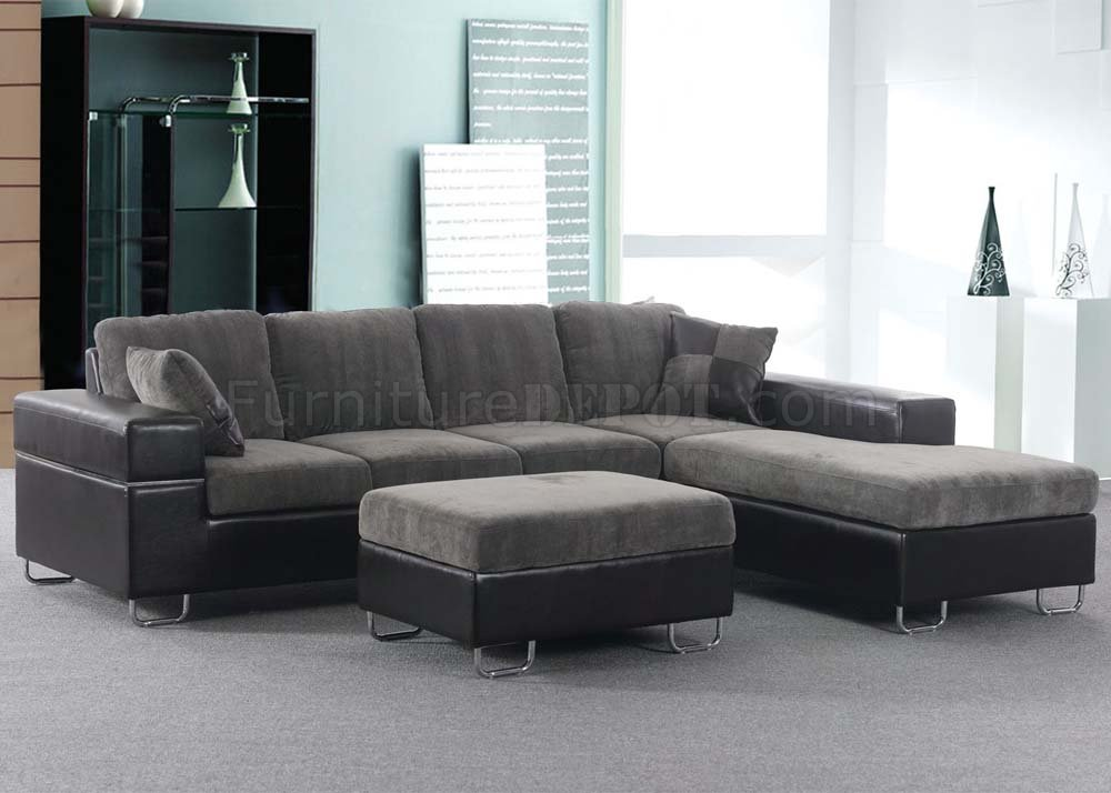 Chenille sectional simple chenille sectional sofa with for Ava nailhead chaise