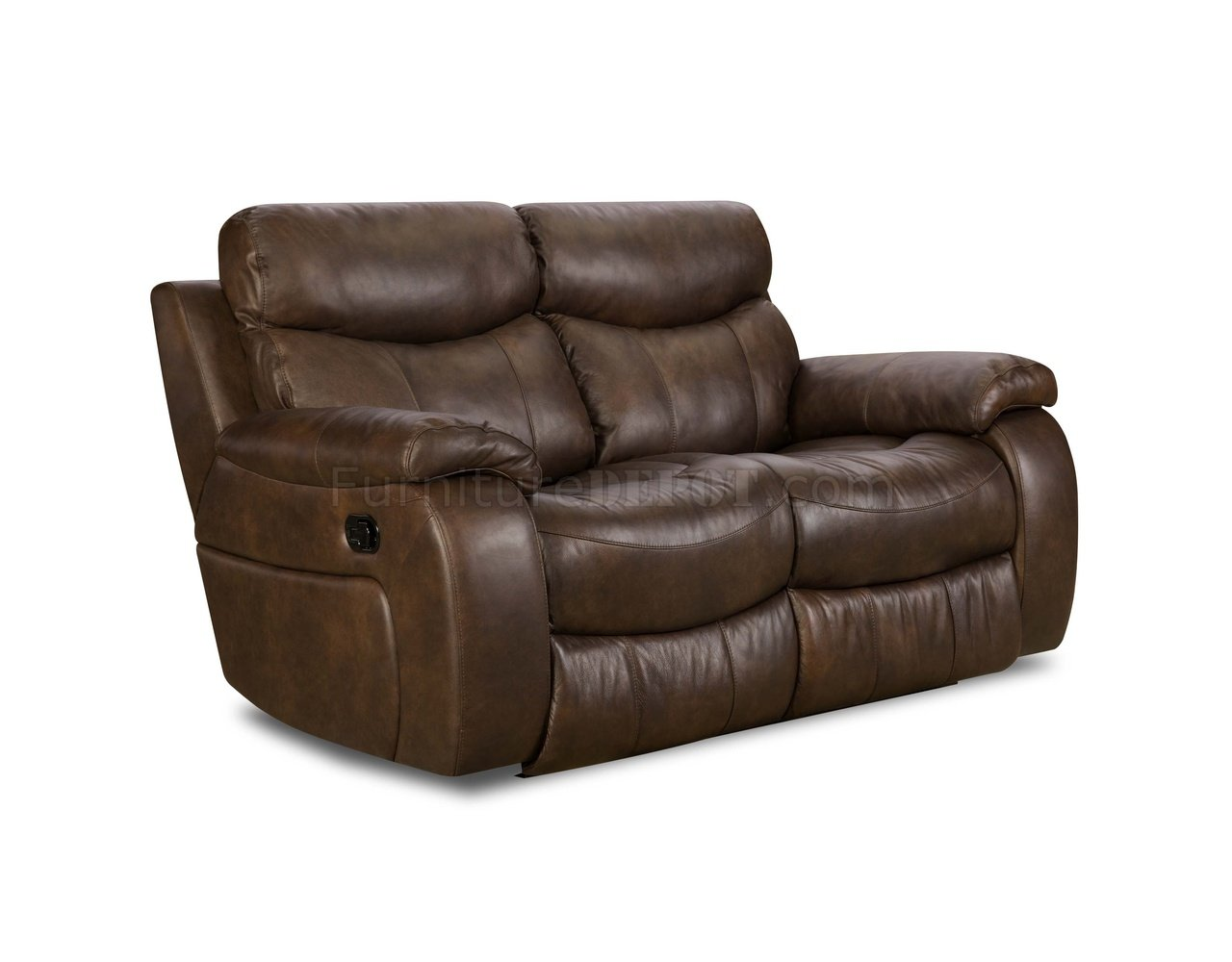 Grain Leather Sectional Recliner
