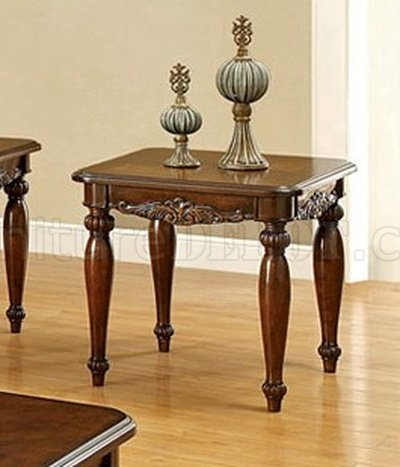 Cm4915 bunbury coffee table 2 end tables in cherry for Cherry coffee table and end tables