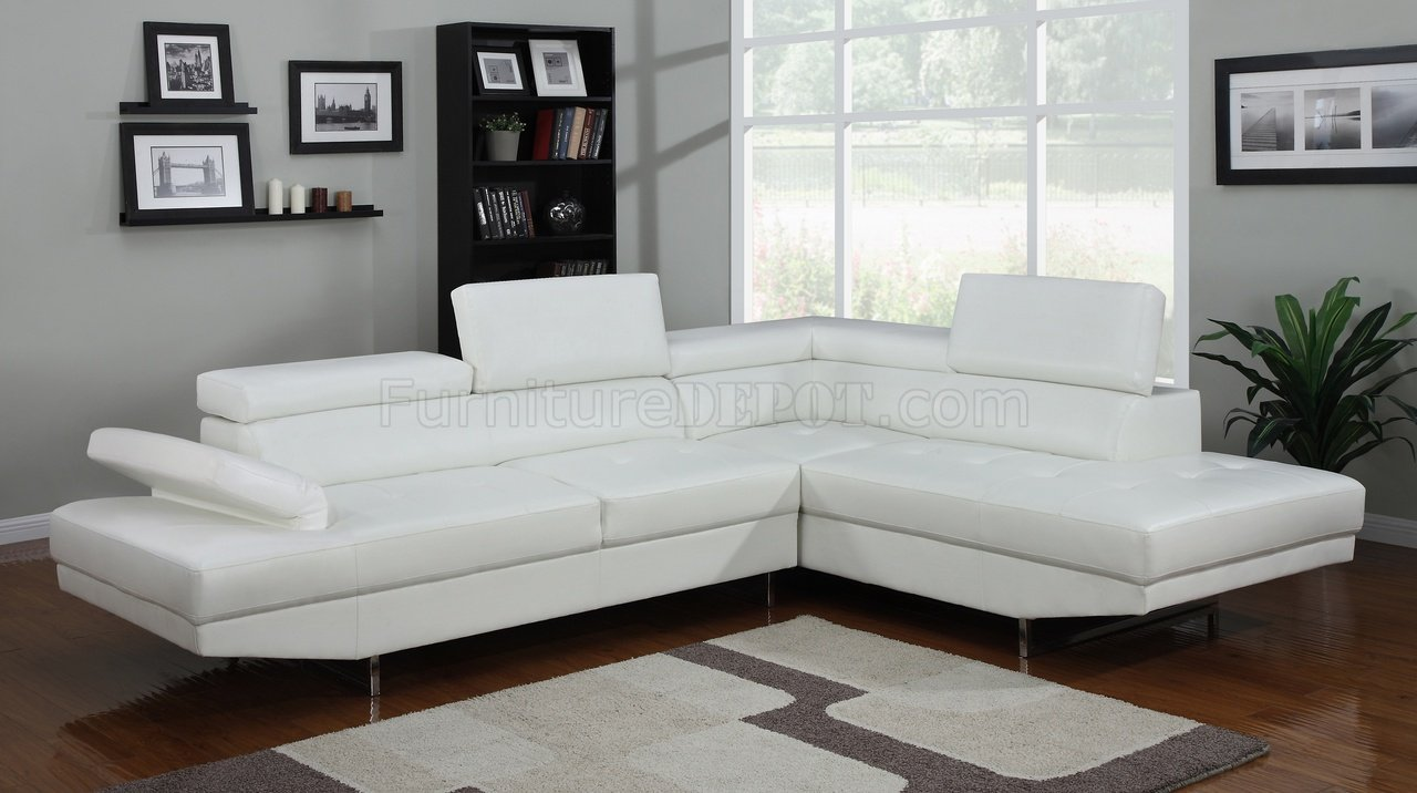 web divani casa sectional modern bonded sofa leather white