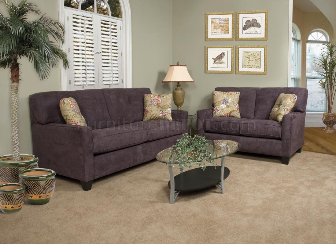 Eggplant Fabric Modern Loveseat amp Sofa Set wOptions : 2ba5c5bcb910d917a2ebe1293877ac09image1099x800 from www.furnituredepot.com size 1099 x 800 jpeg 152kB
