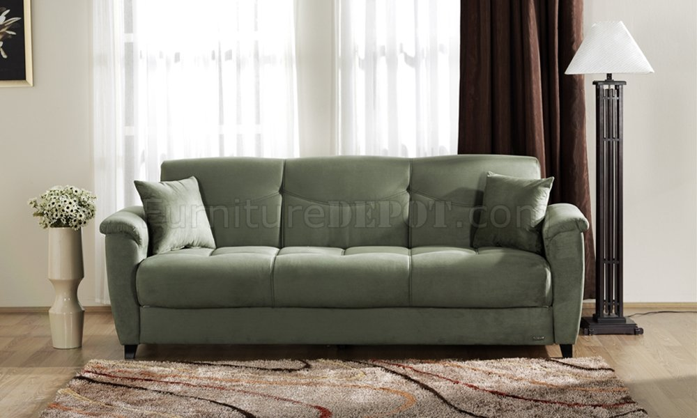 microfiber material for sofas on Sage Microfiber Fabric Living Room Storage Sleeper Sofa At Furniture