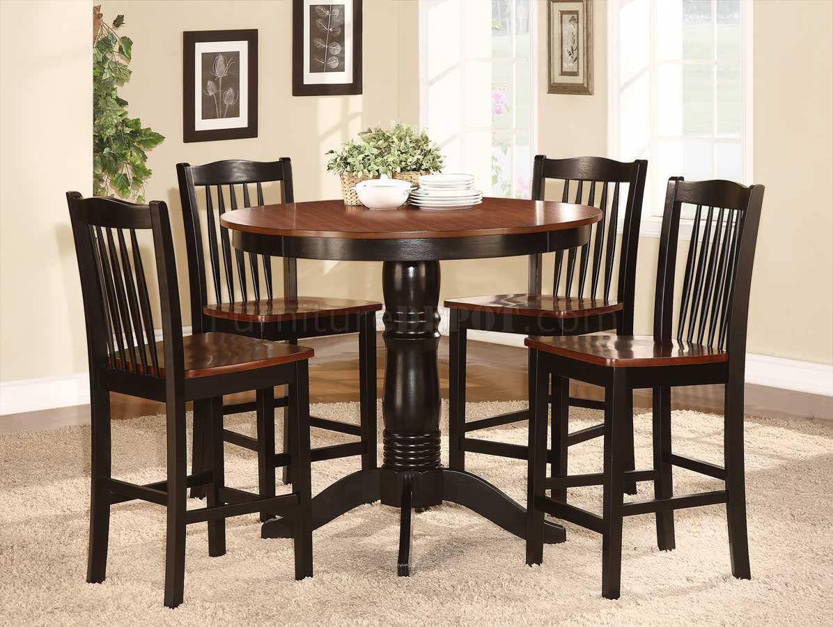 2458 36 andower 5pc counter height dining set by homelegance for Counter height dining set