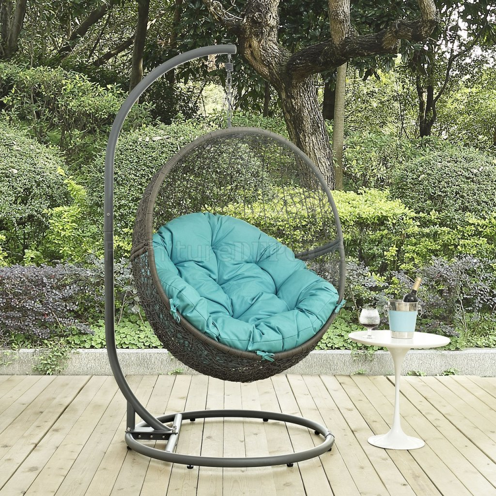 Hide Outdoor Patio Swing Chair Gray By Modway Choice Of Color